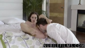 Mature Julia Ann and stepson crazy threesome with the maid